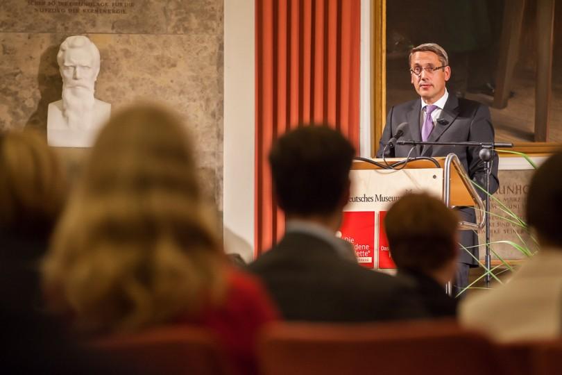 Prof. Dr. Markus Renner, Mitinhaber Branding-Institute AG, auf der Preisverleihung im Deutschen Museum in München