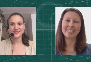 Tanja Adolph, Produktmanagerin LARC (Rechts) im Interview mit Maria Huber, Redaktion PharmaBarometer, anlässlich der Preisverleihung © Eurecon Verlag / Kupconcept