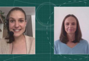 Katarzyna Lukowska, Business Unit Lead Gastroenterology (Rechts) im Interview mit Maria Huber, Redaktion PharmaBarometer, anlässlich der Preisverleihung © Eurecon Verlag / Kupconcept